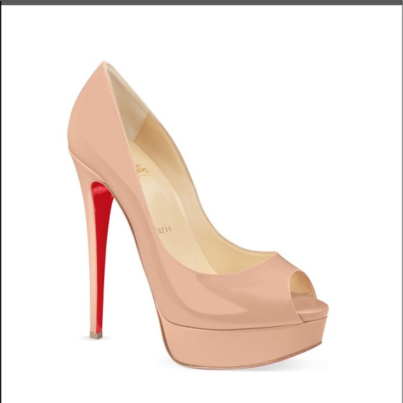 63c16d92037 Christian Louboutin Shoes - Christian Louboutin Lady peep 150 patent calf  nude